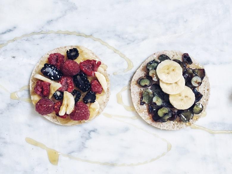 tortitas con frutos rojos